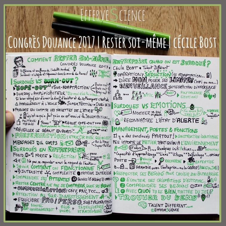 Congres Douance 2017 : Rester soi-même en entreprise avec Cécile Bost