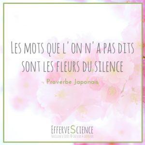 20-Les mots que l'on n'a pas dits sont les fleurs du silence