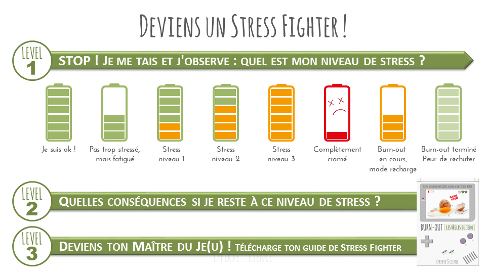 Deviens un Stress Fighter, synthèse de la prise de conscience