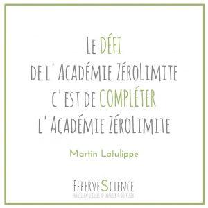 Le défi de l'Académie Zérolimite
