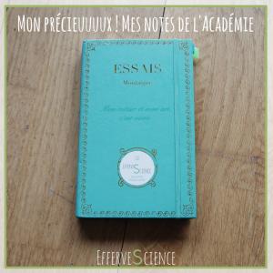 Mon carnet de notes de l'Académie Zérolimite : mon précieux !