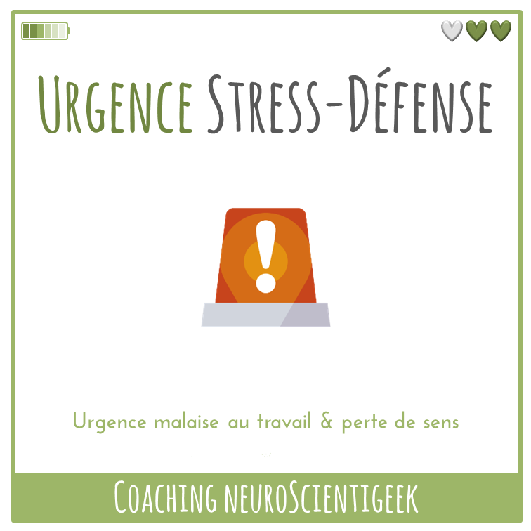 Coaching NeuroScientigeek : Urgence Stress-Défense