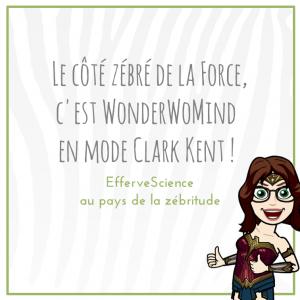 Le côté zébré de la Force, c'est WonderWoMind en mode Clark Kent