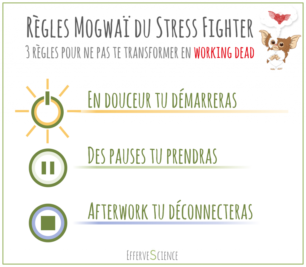 Les règles mogwaï du Stress Fighter (on comment ne pas se transformer en méchant Gremlins ou en Working Dead)