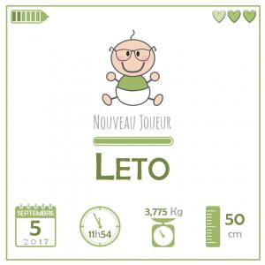 Mini-Geek is here : Leto est arrivé sur Terre le 5 septembre 2017
