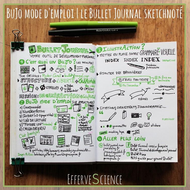 BuJo mode d'emploi | le Bullet Journal sketchnoté