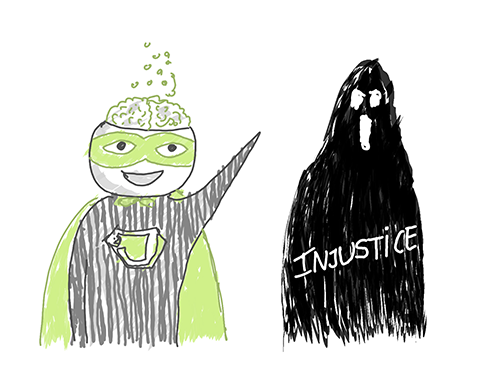Justice zébrée VS injustice