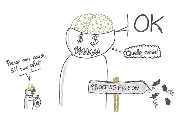 Process pigeon Zèbres VS Justice