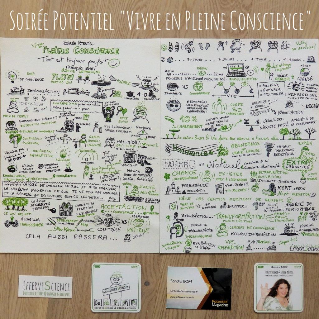 """Soirée Potentiel """"Vivre en Pleine Conscience"""" avec David Lefrançois et François Lemay"""