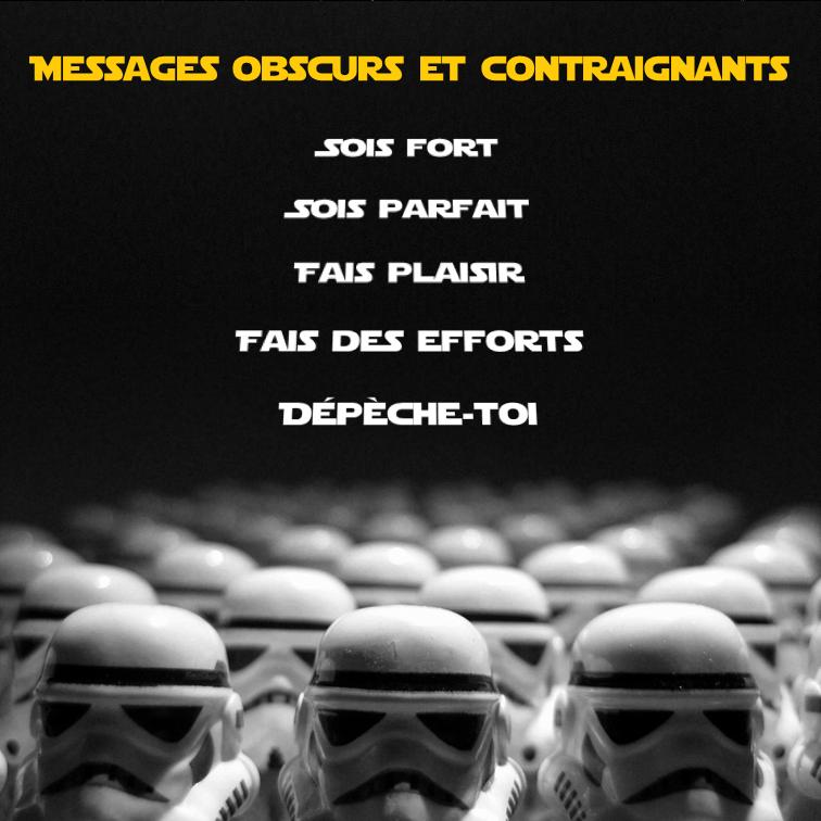 Messages obscurs et contraignants : les drivers des Stormtroopers